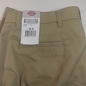 NWT Dickies Tan Cargo Chino Pants 20R /38W